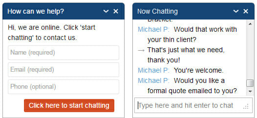 New Online Chat Feature